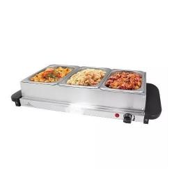 Mothers Choice Electric Hotplate And Buffet Server-3 Trays