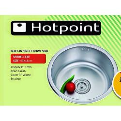 HOTPOINT 43X18CM BUILT- IN SINGLE BOWL SINK | 430 |