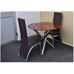 Dining Table with 2 Chairs (Brown)