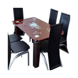 Dining Table with 6 Chairs (Brown)