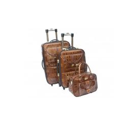 PURE LEATHER TROLLEY LUGGAGE