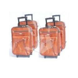 Trolley Travel Bag 4-Piece Set Leather