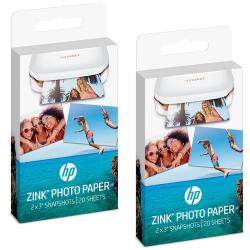 HP ZINK Sticky-backed Photo Paper-20 sht/2 x 3 in (W4Z13A)
